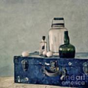 The Blue Suitcase Art Print