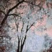 The Blue Trees Art Print