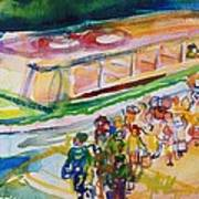 The Boat Trip, 1989 Wc On Paper Art Print