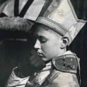 The  Boy Bishop Kisses The Ring Art Print