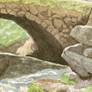 The Bridge at Gleason Falls Art Print