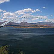 The Bridge At Roosevelt Lake Art Print