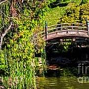 The Bridge In The Japanese Garden Art Print
