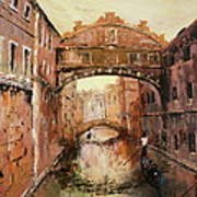 The Bridge Of Sighs Venice Italy Art Print