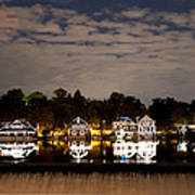 The Bright Lights Of Boathouse Row Art Print
