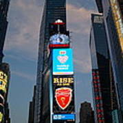 The Bright Lights Of Times Square Art Print