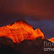 The Brilliance Of Light Mount Rundle Banff Art Print