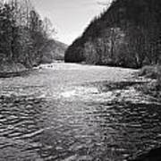 The Broad River 1 Bw Art Print