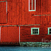 The Broad Side Of A Barn Art Print by Lois Bryan