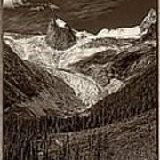 The Bugaboos Monochrome Art Print