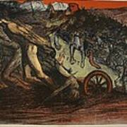 The Burden Of Taxation, Illustration Art Print by Eugene Cadel