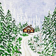 The Cabin Art Print by Judy M Watts-Rohanna