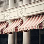 The Cafe Awnings At Chautauqua Institution New York  Art Print