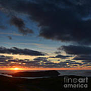 The Calf From A Hilltop In Twilight I Art Print