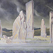The Callanish Legend Isle Of Lewis Art Print by Evangeline Dickson