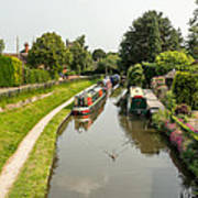 The  Trent And Mersey Canal At Alrewas Art Print