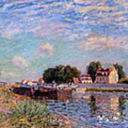 The Canal At Saint-mammes Art Print