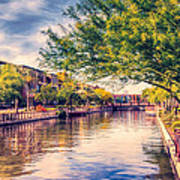 The Canal In Downtown Scottsdale Art Print