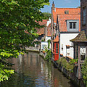 The Canal In The Downtown Of Bruges  Art Print