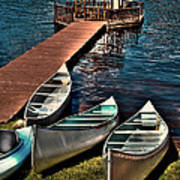 The Canoes At Big Moose Inn Art Print