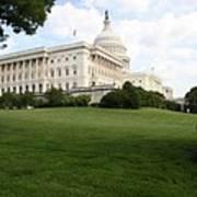 The Capitol Hill View Washington Dc Art Print