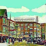 The Capitol Theatre And Main St. In Pawtucket Ri In 1905 Art Print