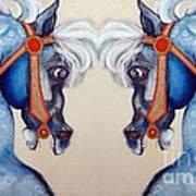 The Carousel Twins Art Print