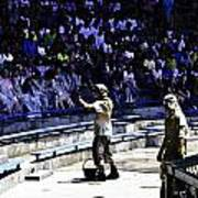 The Cast Prepping The Audience At The Waterworld Attraction At Studios Art Print