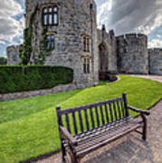 The Castle Bench Art Print by Adrian Evans