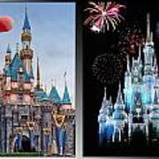 The Castles Of Disney 2 Panel Vertical Art Print