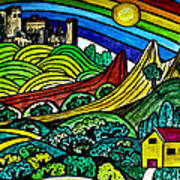 The Castles Rainbow Art Print