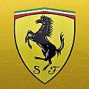The Cavallino Rampante Symbol Of Ferrari Art Print