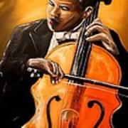 The Cello Player Art Print