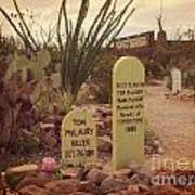 The Cemetery At Boothill Art Print