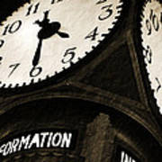 The Central Terminal Clock Art Print