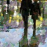 The Champs Elyseee After The Rain Art Print