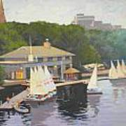 The Charles River Sailing Club Art Print