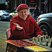 The Chess King Jude Acers Of The French Quarter Art Print
