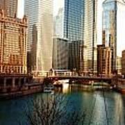 The Chicago River From The Michigan Avenue Bridge Art Print