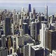 The Chicago Skyline From Sears Tower-013 Art Print