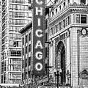 The Chicago Theatre Art Print