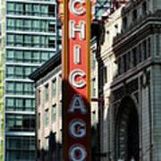 The Chicago Theatre Art Print