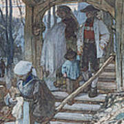 The Christening Gate In Lausanne, C.1861 Art Print