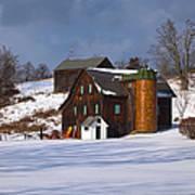 The Christmas Barn Art Print