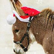 The Christmas Donkey Art Print