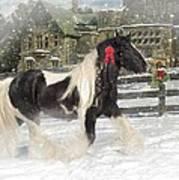 The Christmas Pony Art Print by Fran J Scott