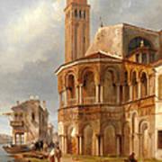 The Church Of Santa Maria E San Donato In Murano Art Print