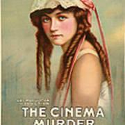 The Cinema Murder  Art Print