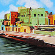 The City Of Matanzas In Cuba Art Print