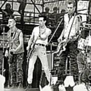 The Clash 1982 Art Print by Chuck Spang